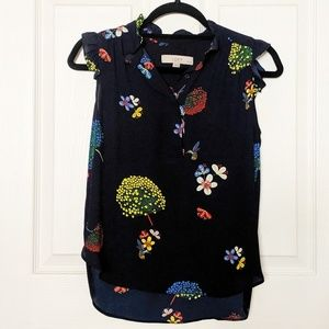 🌻Sleeveless Floral and Fauna LOFT Blouse Top🌻